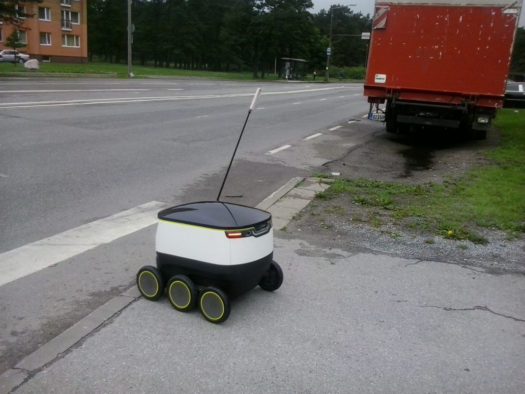 Starship Technologies Grocery Delivery Rover. Photo Credit Mart Rootamm (CC-BY-SA)