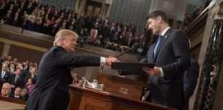 Trump Shaking Hands with Paul Ryan